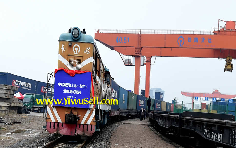 China one belt one road Yiwu Market frieight train to Poland